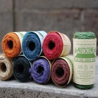 8 Nutscene Tiddler Twine - 1 each of 8 Colours! Coloured Craft String