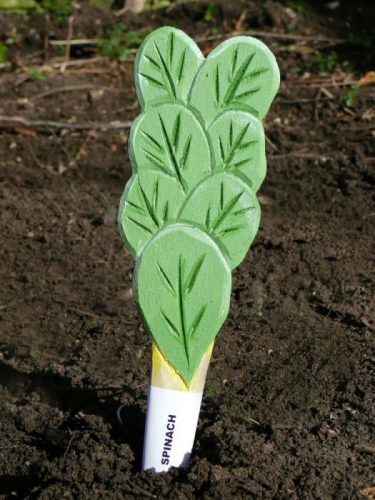 SPINACH VEGGIE STIKK Vegetable Plant Markers Labels