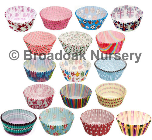 60 Patterned Cupcake Cases for Fairy Cake, Bun & Muffin Baking