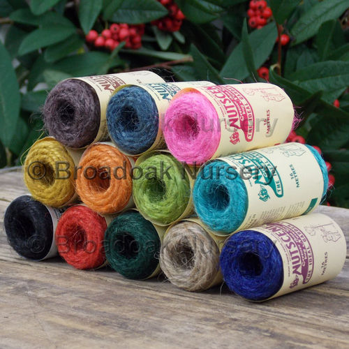 12 Nutscene Tiddler Twine 13m Spools 1 of each colour! Coloured String
