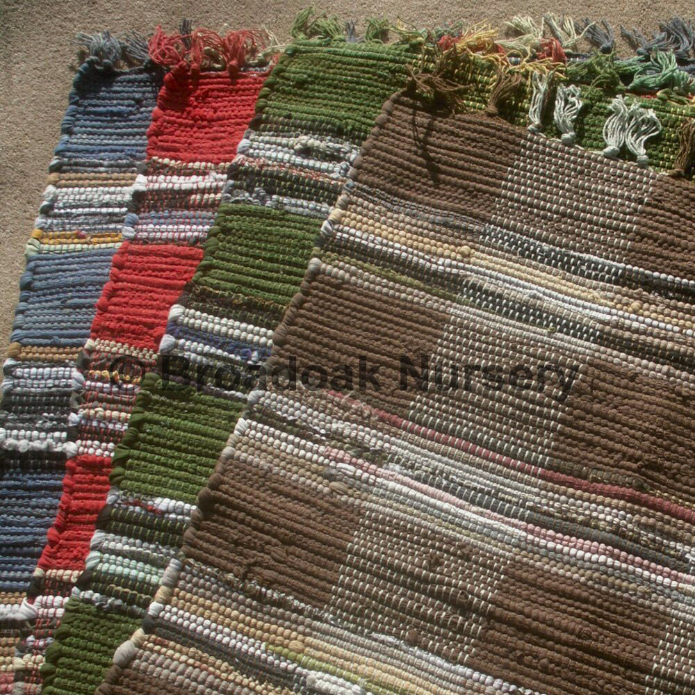 Fair Trade Indian Rag Rug Chindi Check Cotton Handmade