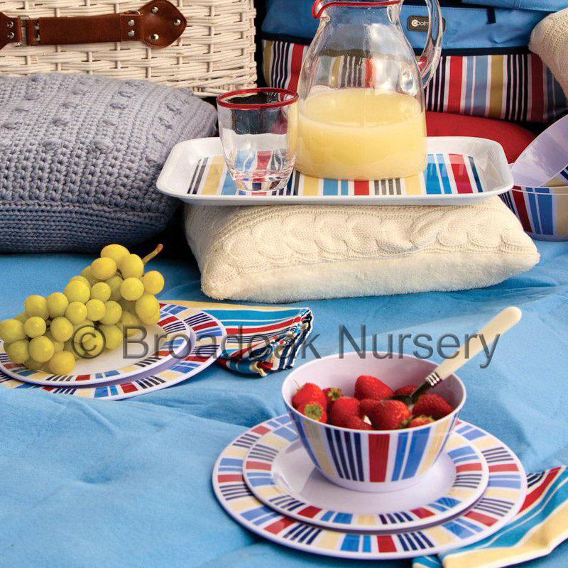 Picnic Basket Dish Set : Pc marina melamine tableware set picnic camping