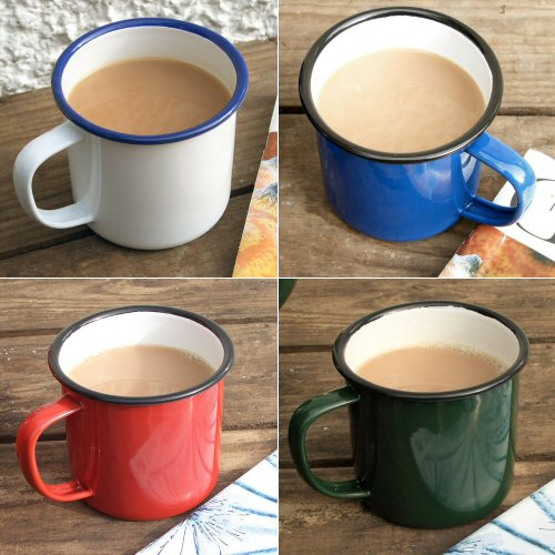 Enamel Mug Large (Available in White, Blue, Green & Red)