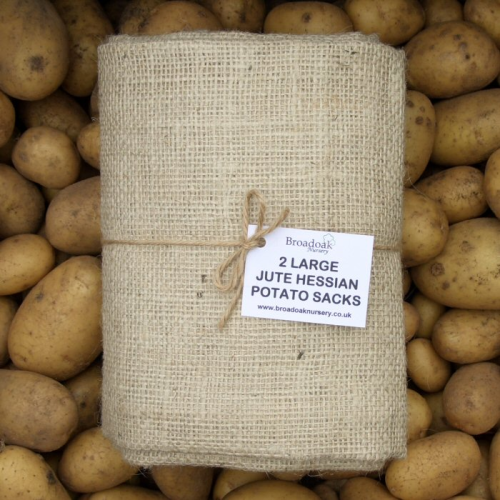 2 Large Jute Hessian Sacks (50kg Potato Storage Sacks)