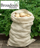 2 Jute Hessian Sacks Close Weave (25kg Potato Storage Bag)