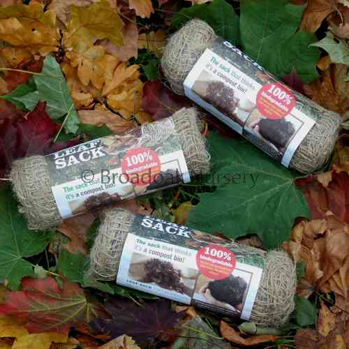 10 Jute Leaf Sacks (Leaf Mould Sacks)