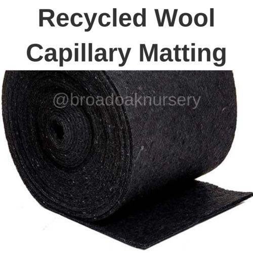 Capillary Matting Wool by the metre 60cm Wide for plant watering