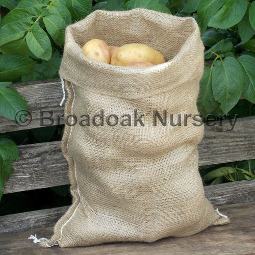 Jute Hessian Sack SMALL Close Weave - Easy Carry (5kg Potato Sack)