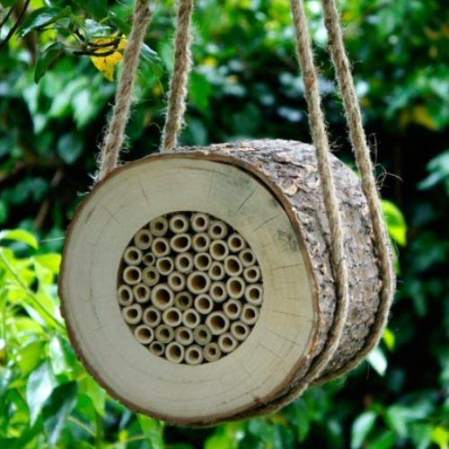 Pollinating Bee Log - Nest Box for Solitary, Mason, Leafcutter Bees