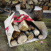 LOG GOBBLER Heavy Duty Jute Canvas Log Carrier Basket