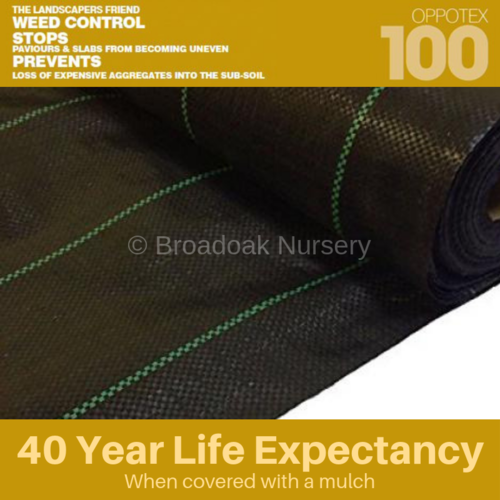 Oppotex 100 Woven Ground Cover - Heavy Duty Weed Control Fabric