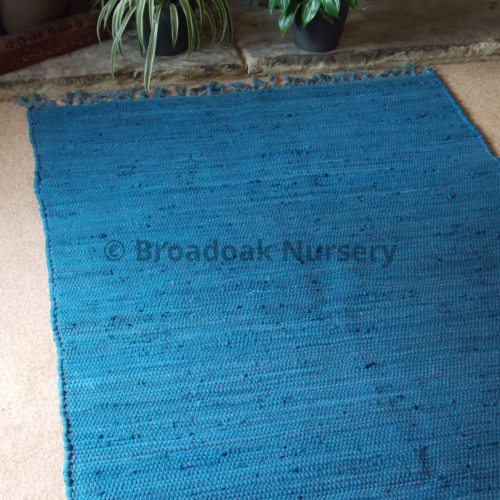 Fair Trade Indian Rag Rug Single Coloured - Recycled, 100% Cotton