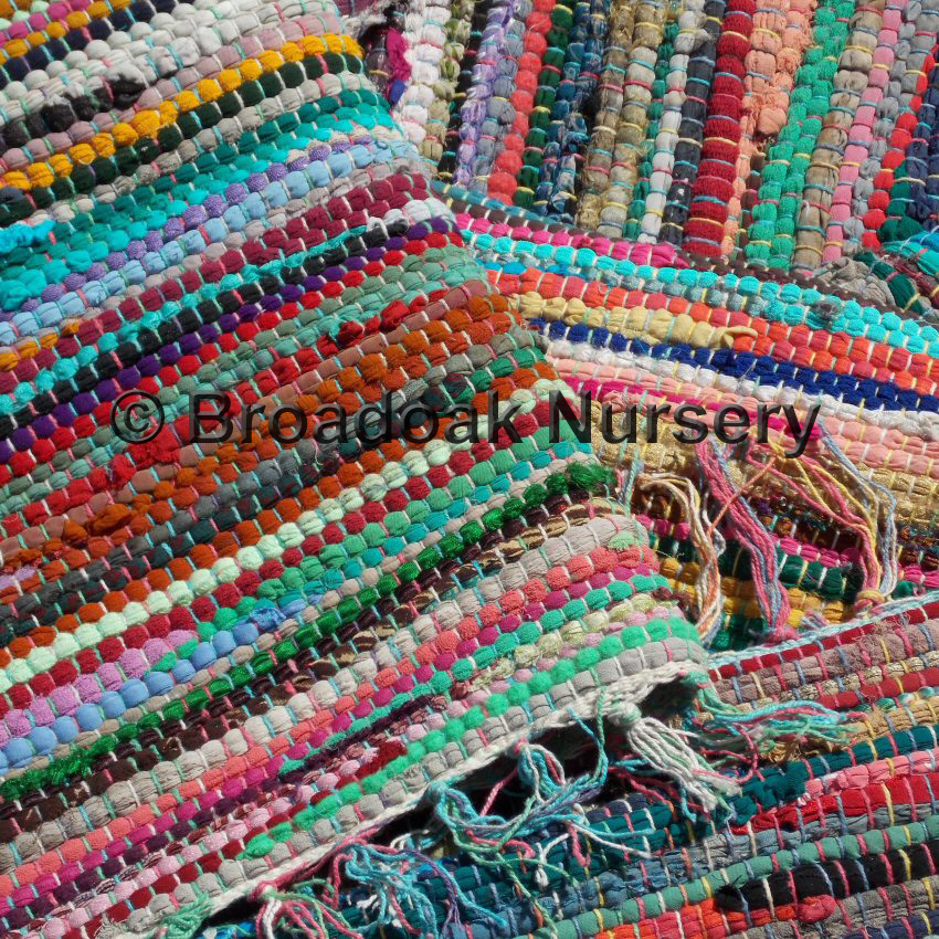 Fair Trade Indian Rag Rug Recycled Cotton Handmade From
