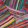 Fair Trade Indian Rag Rug Multicoloured, Recycled Cotton, Handmade
