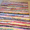 Fair Trade Indian Rag Rug 60x90cm, Bright, Multicoloured