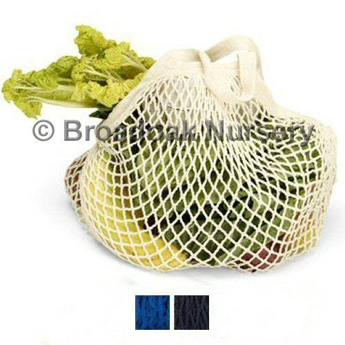 Organic Cotton String Bag Long Handle Turtle Bags - Reusable Bag