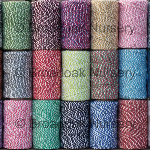 Beautiful Cotton Bakers Twine 100m Spool UK Made coloured craft string
