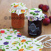 8 Fabric Jam Jar Covers with Ribbons & Bands for Preserve & Jam Pots
