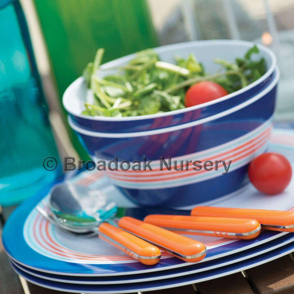 Seafarer Melamine Tableware - Party Picnic C&ing Dinnerware Set & Seafarer Melamine Tableware Party Camping Dinnerware Set Broadoak