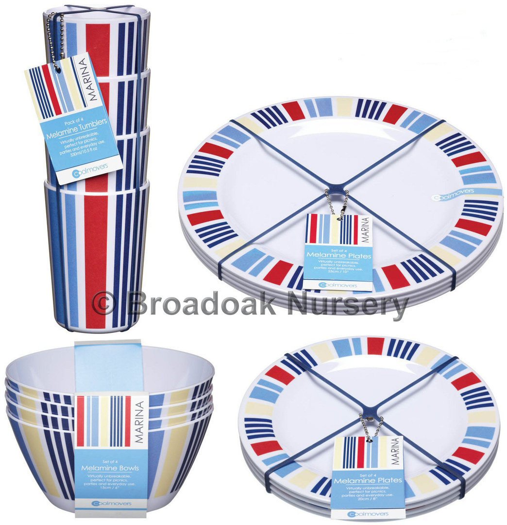 ... 16pc Marina Melamine Tableware Set -Everyday Picnic C&ing Dinnerware  sc 1 st  Broadoak Nursery Online Home and Garden Store Craft and Gifts & 16pc Marina Melamine Tableware Set - Picnic Camping Dinnerware