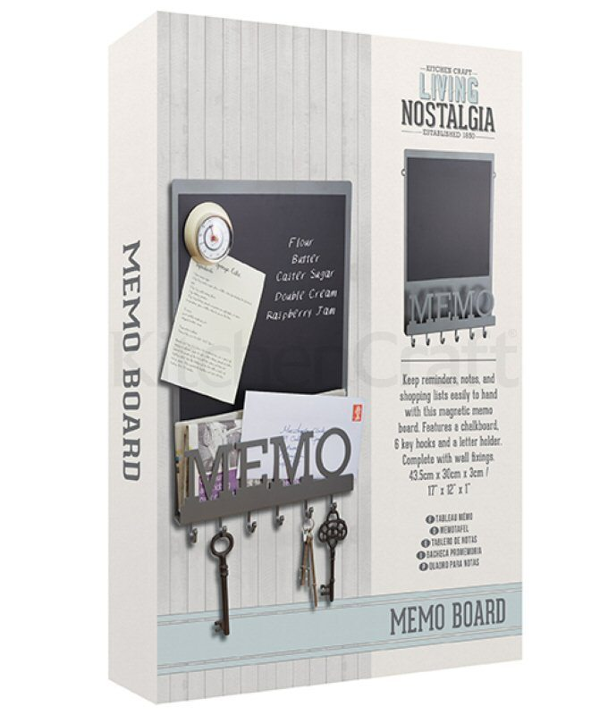 Vintage Magnetic Memo Board Key Hooks Letter Holder Broadoak