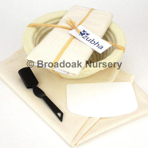 Bread Making Kit, Round Banneton, Dough Scraper, Proving Cloth, Baking