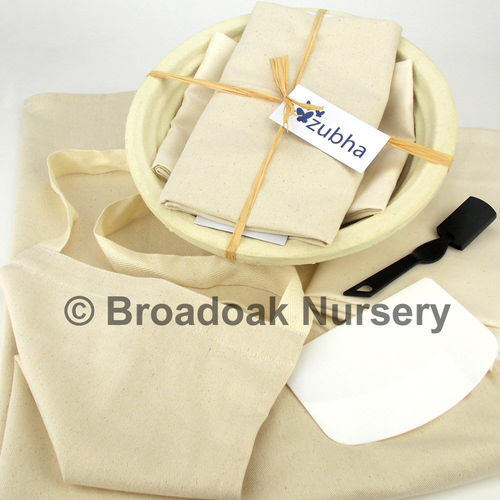 Large Bread Making Kit, Round Banneton, Apron, Dough, Proving, Baking