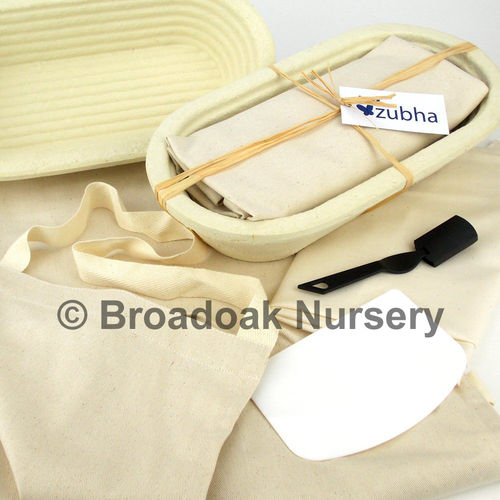 Large Bread Making Kit, Long Oval Banneton, Apron, Dough, Proving