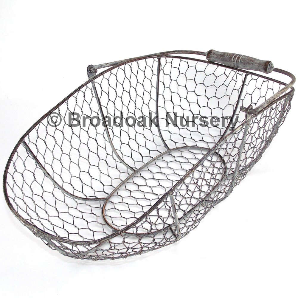 Rustic Metal Wire Mesh Storage Trug Vintage Wedding Kitchen