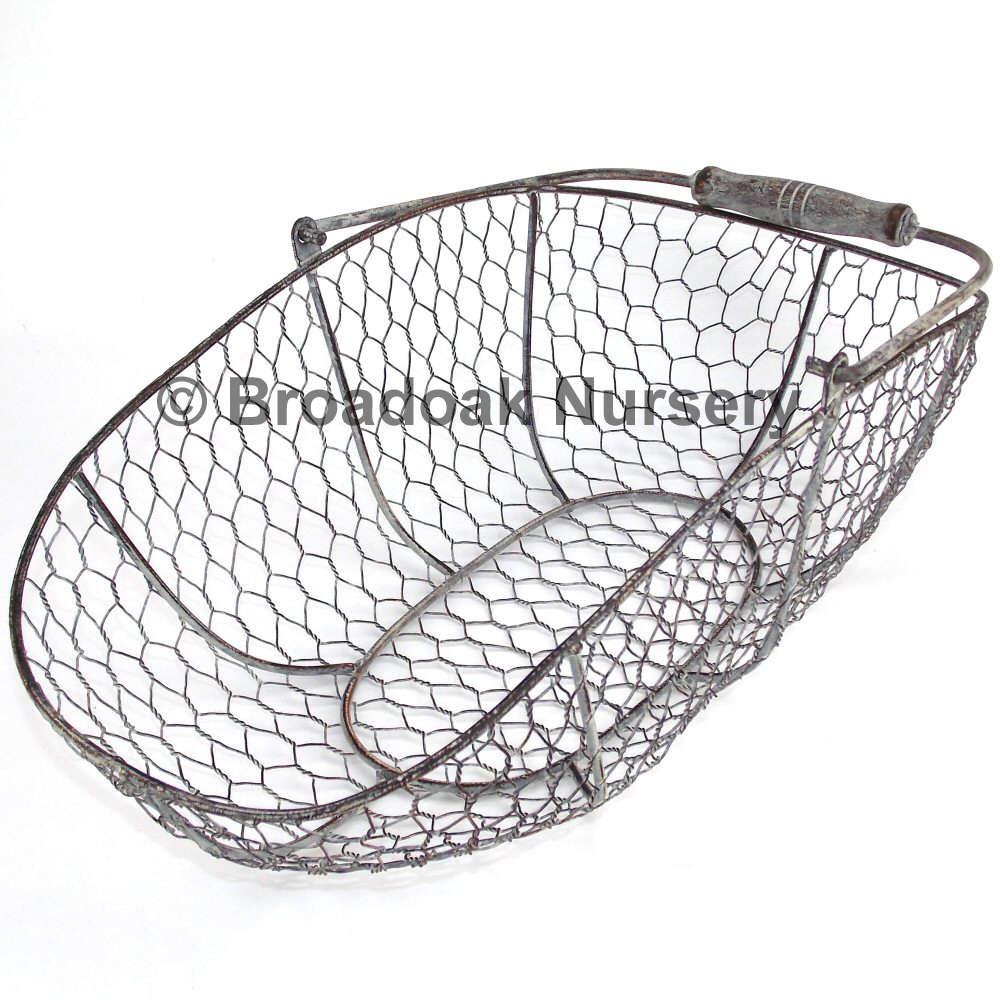 Rustic Metal Wire Mesh Storage Trug   Oval, Rustic, Vintage, Wedding,  Kitchen