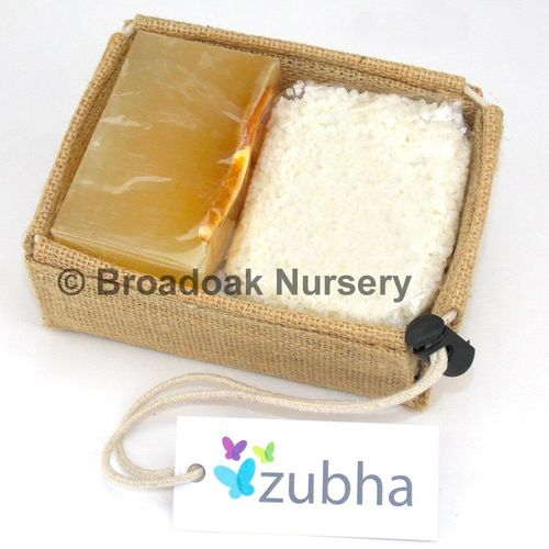 Natural Organic Handmade Soap & Dead Sea Bath Salts Gift Set