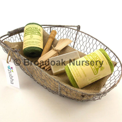 Gardeners Gift Set - Trug, Hessian Sack, Twine, Allotment
