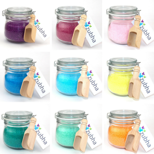 500g Aromatherapy Bath Salts with Essential Oils, Kilner Jar Gift Set