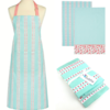 Pretty Kitchen Textile Set - Apron & 2 Coordinating Tea Towels - Gift Set
