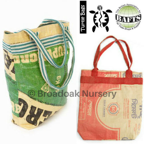 Recycled Cement Bag - Turtle Bags, Fair Trade, Upcycled