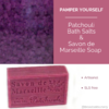 Patchouli Combo - Savon de Marseille Soap & Bath Salts