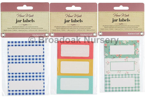 30 Pretty Preserve, Pickle, Jam Jar Labels in Various Designs