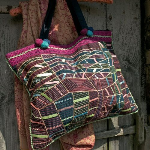 Gorgeous Fair Trade Sequin Cobweb Bag, Handmade