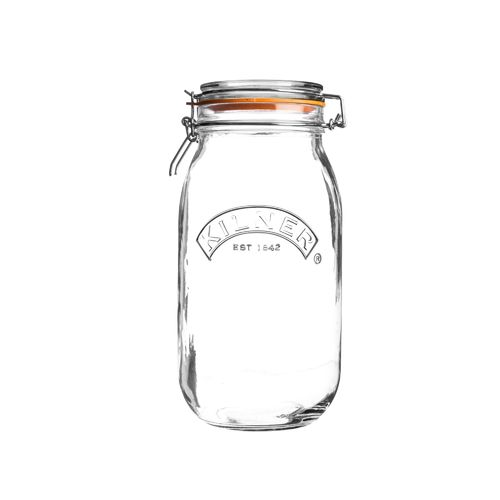 Kilner Clip Top Jar - 2 Litre - Jams, Pickles & Preserves