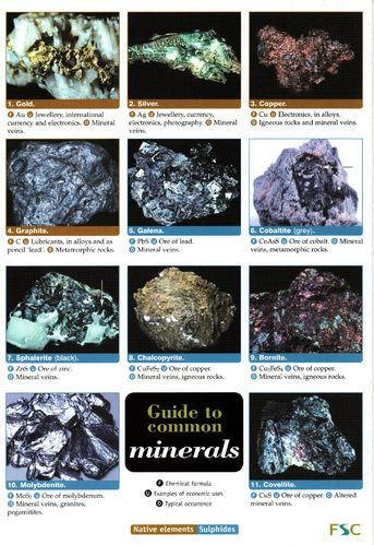 Laminated Field Guide MINERALS